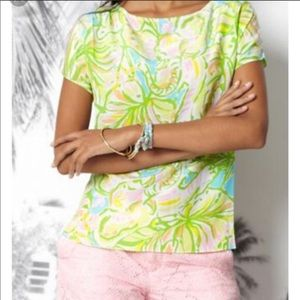 Lilly Pulitzer silk guava Top